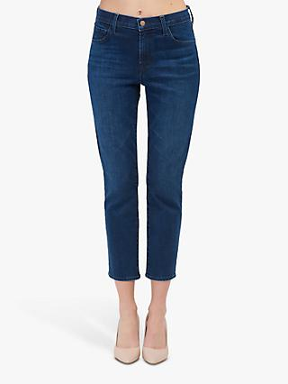J. Brand Ruby High Rise Skinny Cropped Jeans, Nightshade Dark Wash