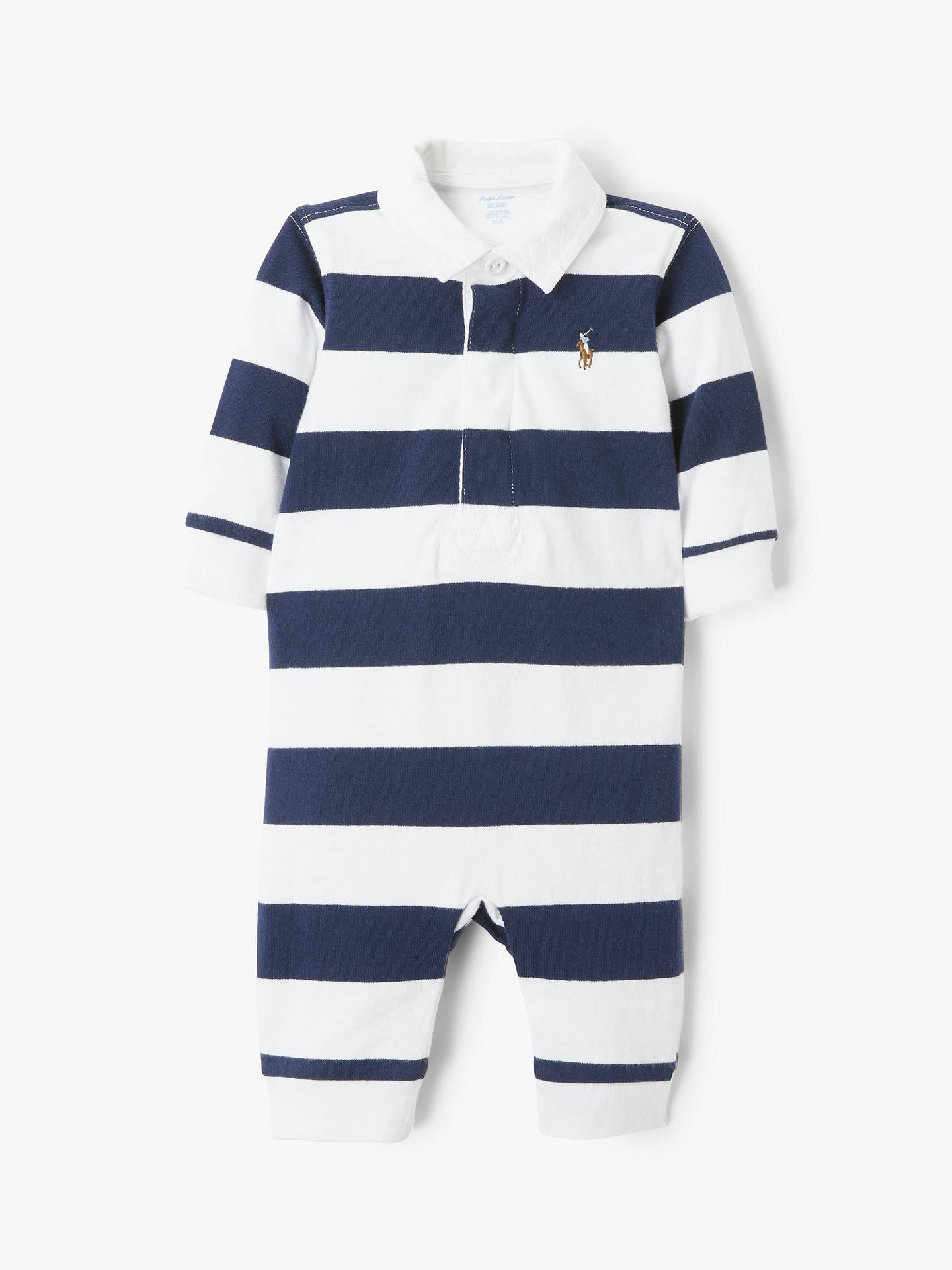 e033f477fd Polo Ralph Lauren Baby Rugby Bodysuit, Navy/White