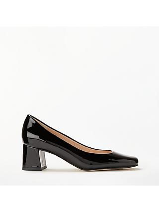 John Lewis & Partners Amanda Patent Leather Court Shoes, Black