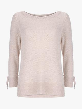 Mint Velvet Metallic Knit Jumper, Blossom