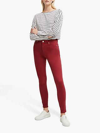 French Connection Organic High Waist Skinny Jeans, Rosewood