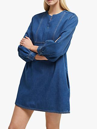 French Connection Luna Denim Dress, Blue