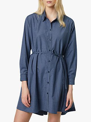 French Connection Mattia Check Cotton Dress, Blue