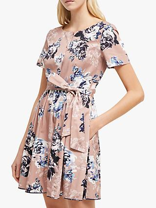 1f691a5ba61 French Connection Amalfi Floral Belted Dress, Cinder Pink/Multi