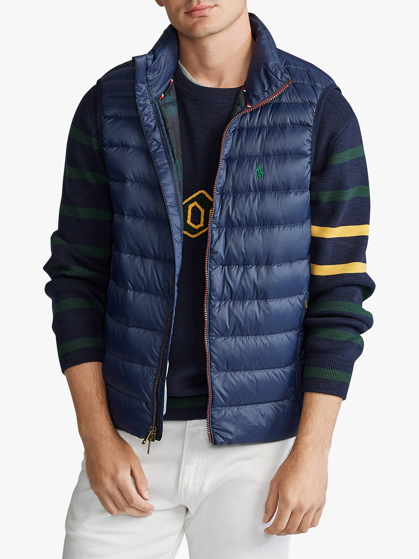 b0db6881 Polo Golf by Ralph Lauren Holden Packable Quilted Down Gilet, Cruise Navy