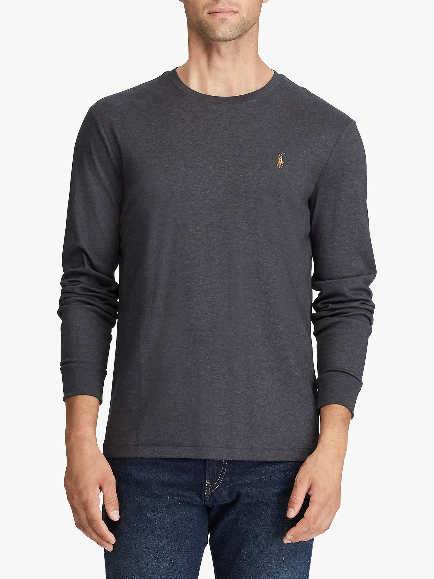 1bbb8590 Polo Ralph Lauren Long Sleeve T-Shirt, Dark Grey Heather