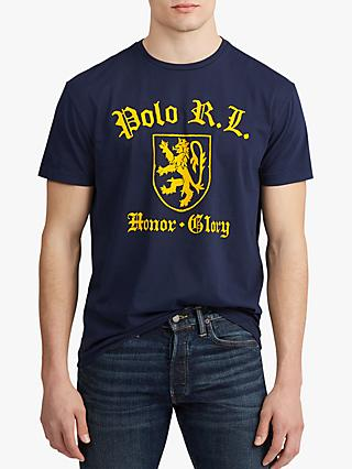 Polo Ralph Lauren Logo Graphic T-Shirt, Cruise Navy