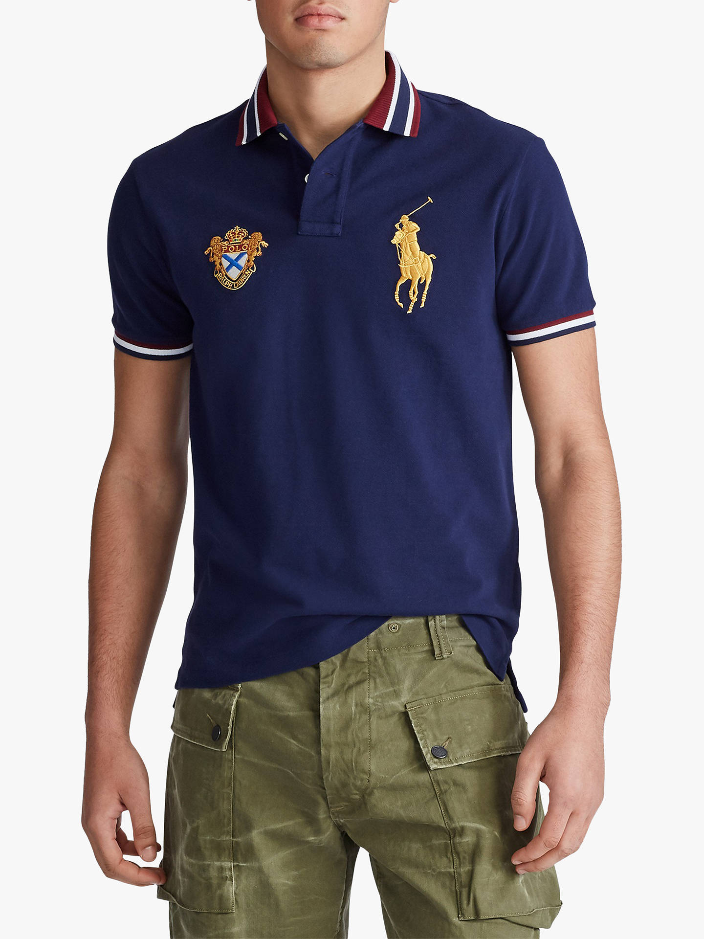 Polo Ralph Lauren Custom Slim Fit Mesh Polo Navy
