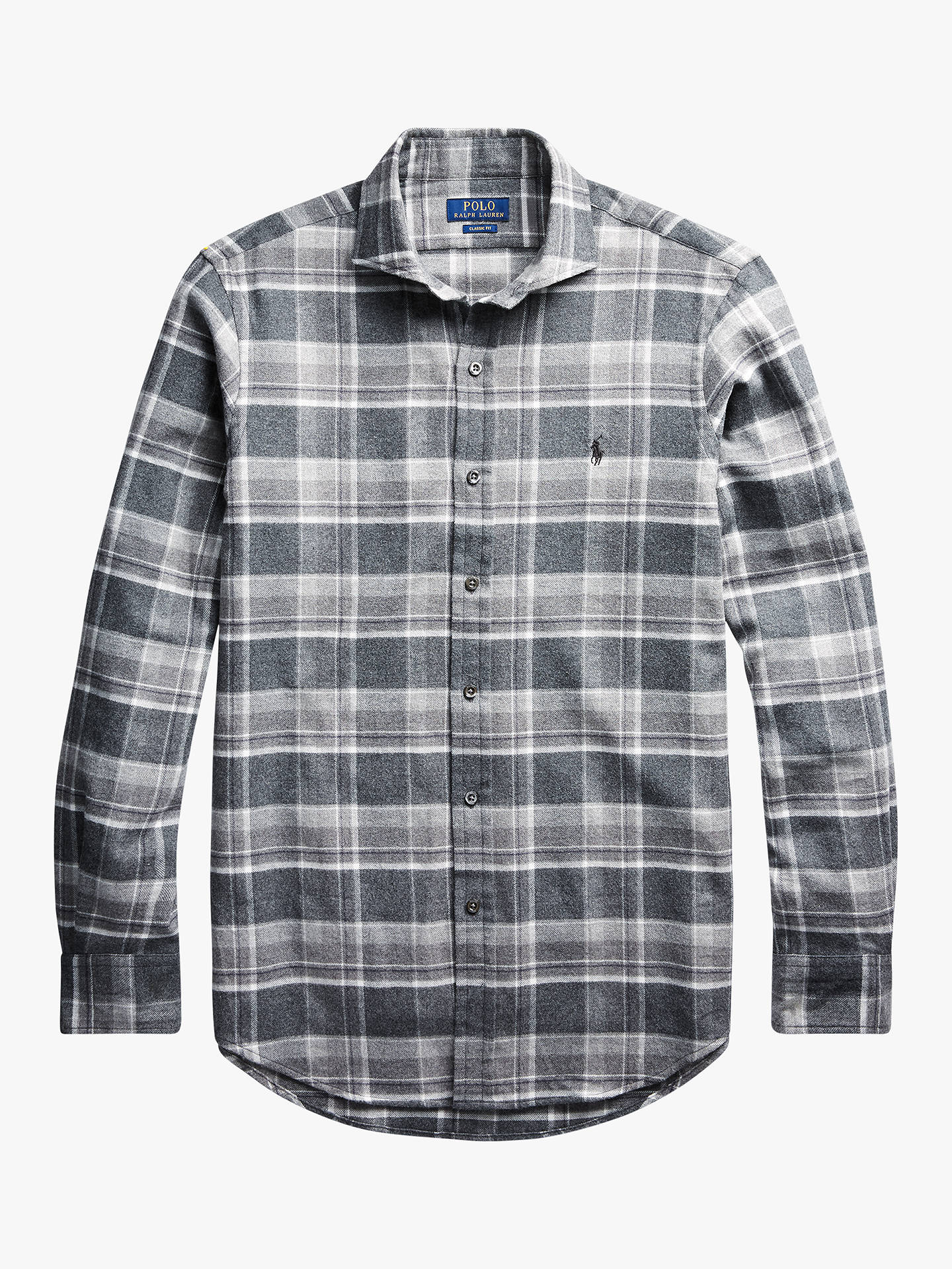 Polo Ralph Lauren Big /& Tall Men/'s Gray Plaid Cotton Flannel Button Front Shirt