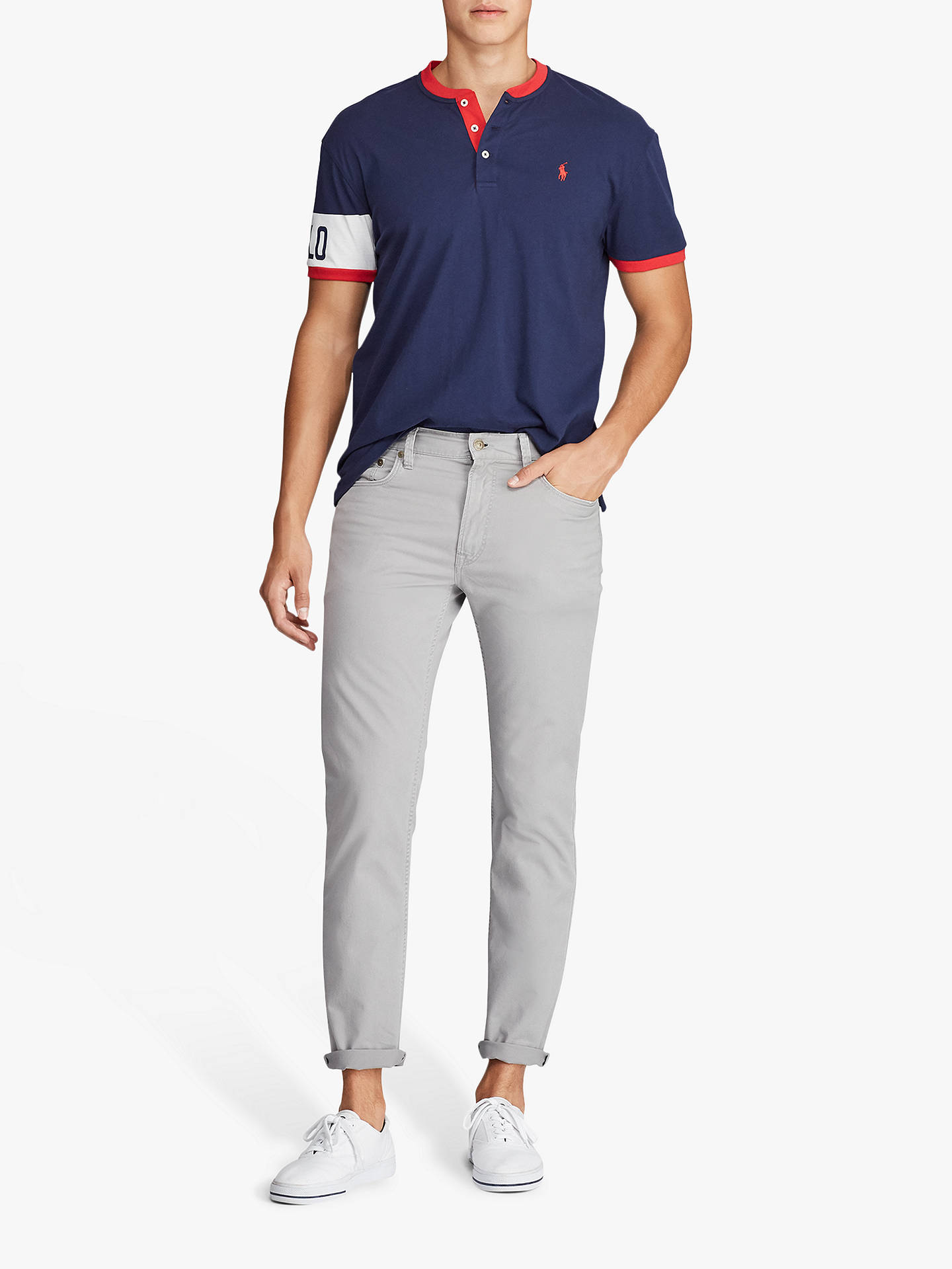 Buy Polo Ralph Lauren Slim Straight Varick Chinos, Peak Grey, 36R Online at johnlewis.com