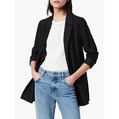 Image of AllSaints Aleida Long Sleeve Blazer, Black