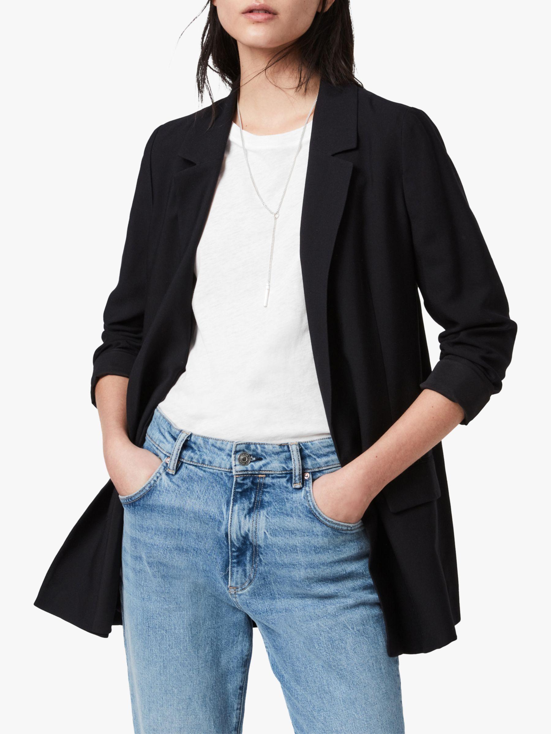 AllSaints AllSaints Aleida Long Sleeve Blazer, Black