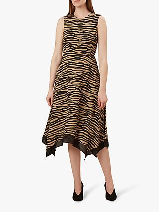 Hobbs Madeline Animal Print Dress, Black/Neutral