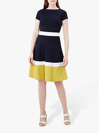 Hobbs Seasalter Dress, Navy/Multi