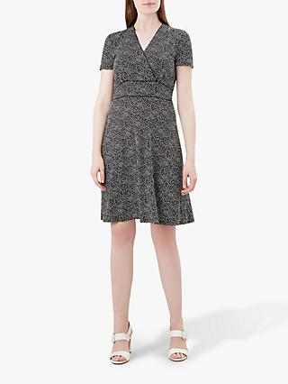 Hobbs Darcie Dress, Black/Ivory