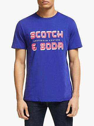 Scotch & Soda Artwork Print T-Shirt, Star Blue