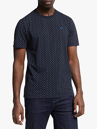 Scotch & Soda Polka Dot T-Shirt, Navy
