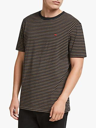 Scotch & Soda Striped T-Shirt, Brown/Navy