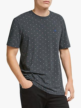 Scotch & Soda Dot Print T-Shirt, Navy