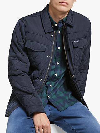 Scotch & Soda Quilted Shirt Jacket, Navy