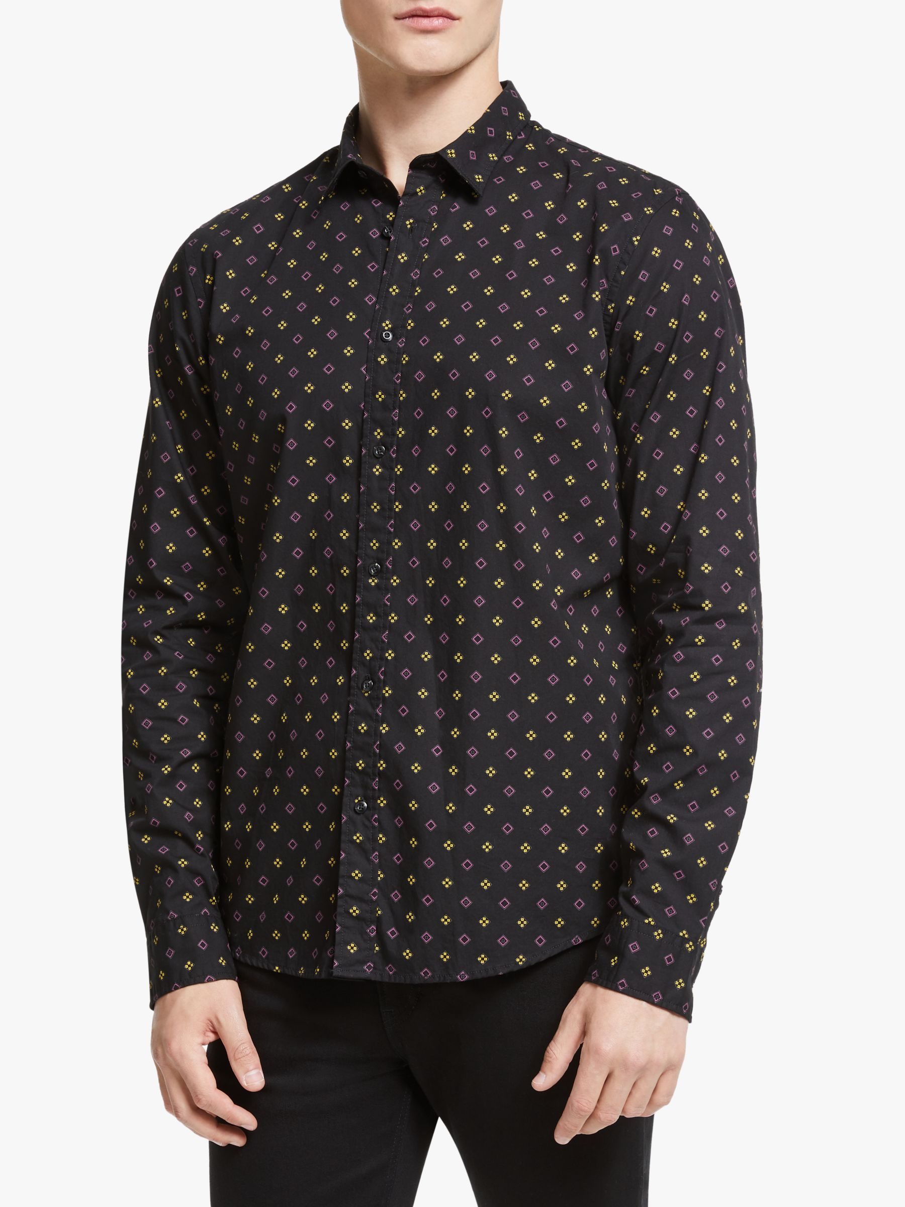 Scotch & Soda Scotch & Soda Geo Print Shirt, Black