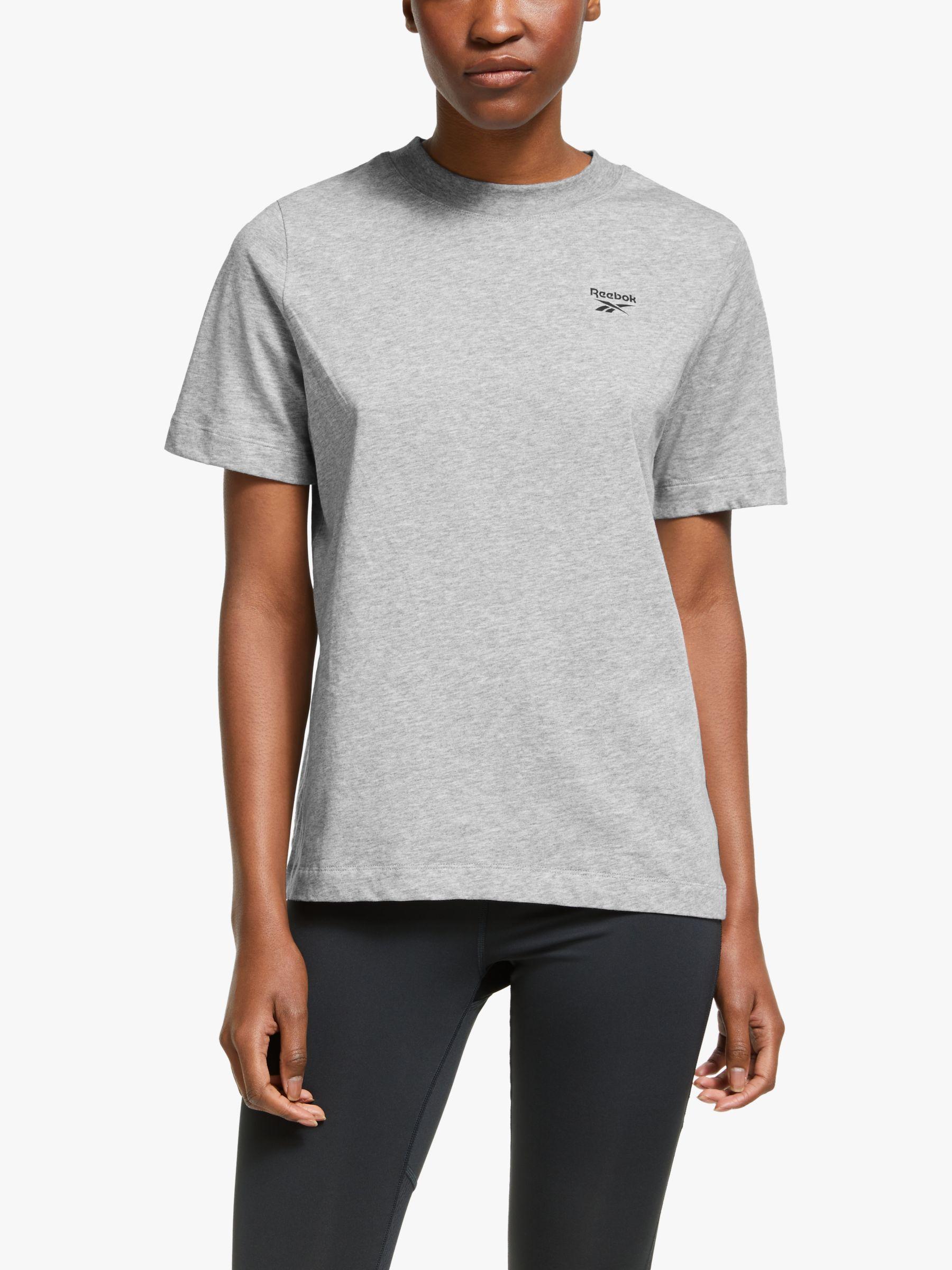 Reebok Reebok Training Essentials Easy Logo T-Shirt, Medium Grey Heather