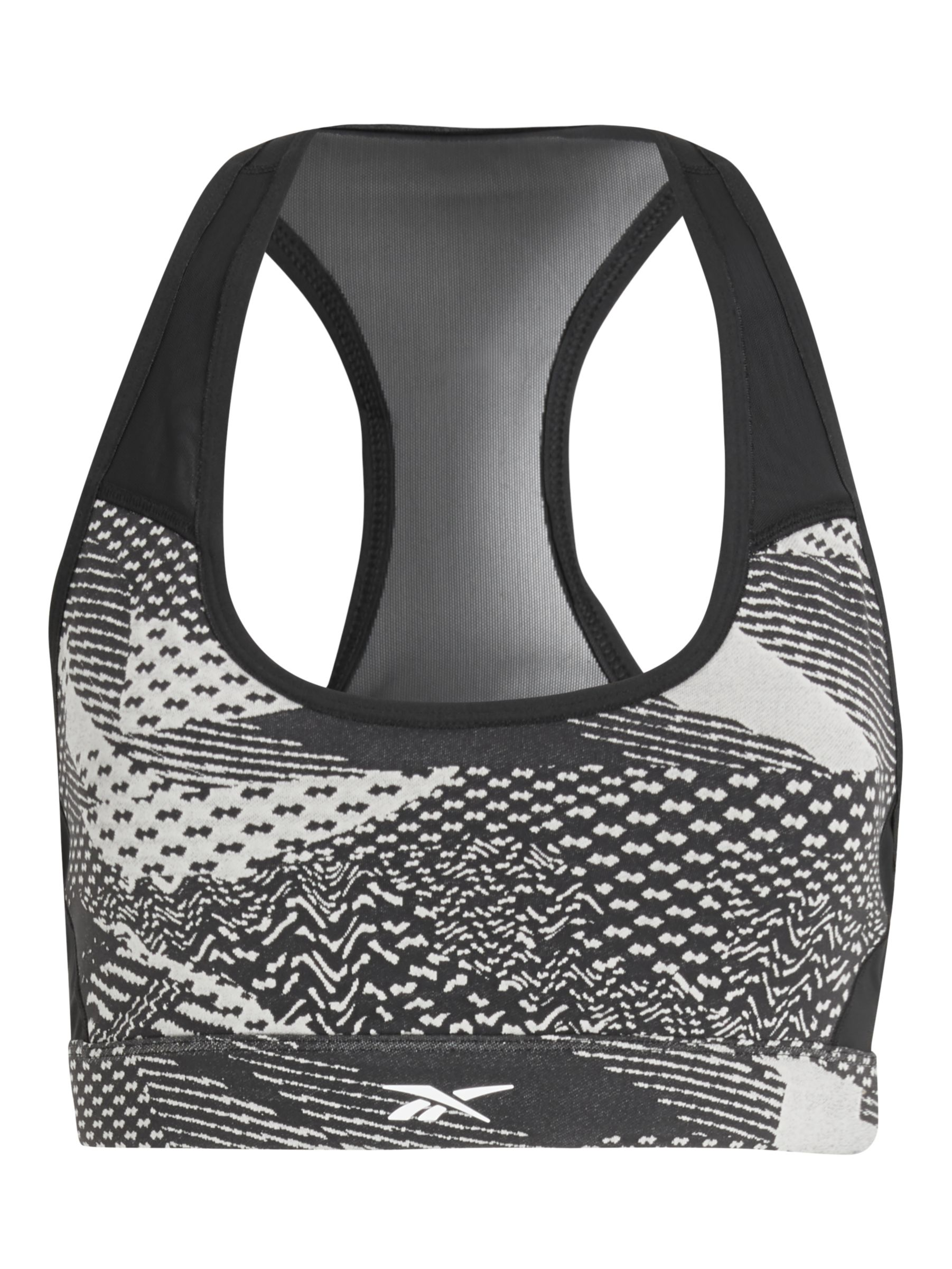 Buy Reebok Hero Racer Medium Impact Sports Bra, Stucco, XS Online at johnlewis.com