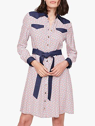 Damsel in a Dress Cecilly Shirt Dress, Multi