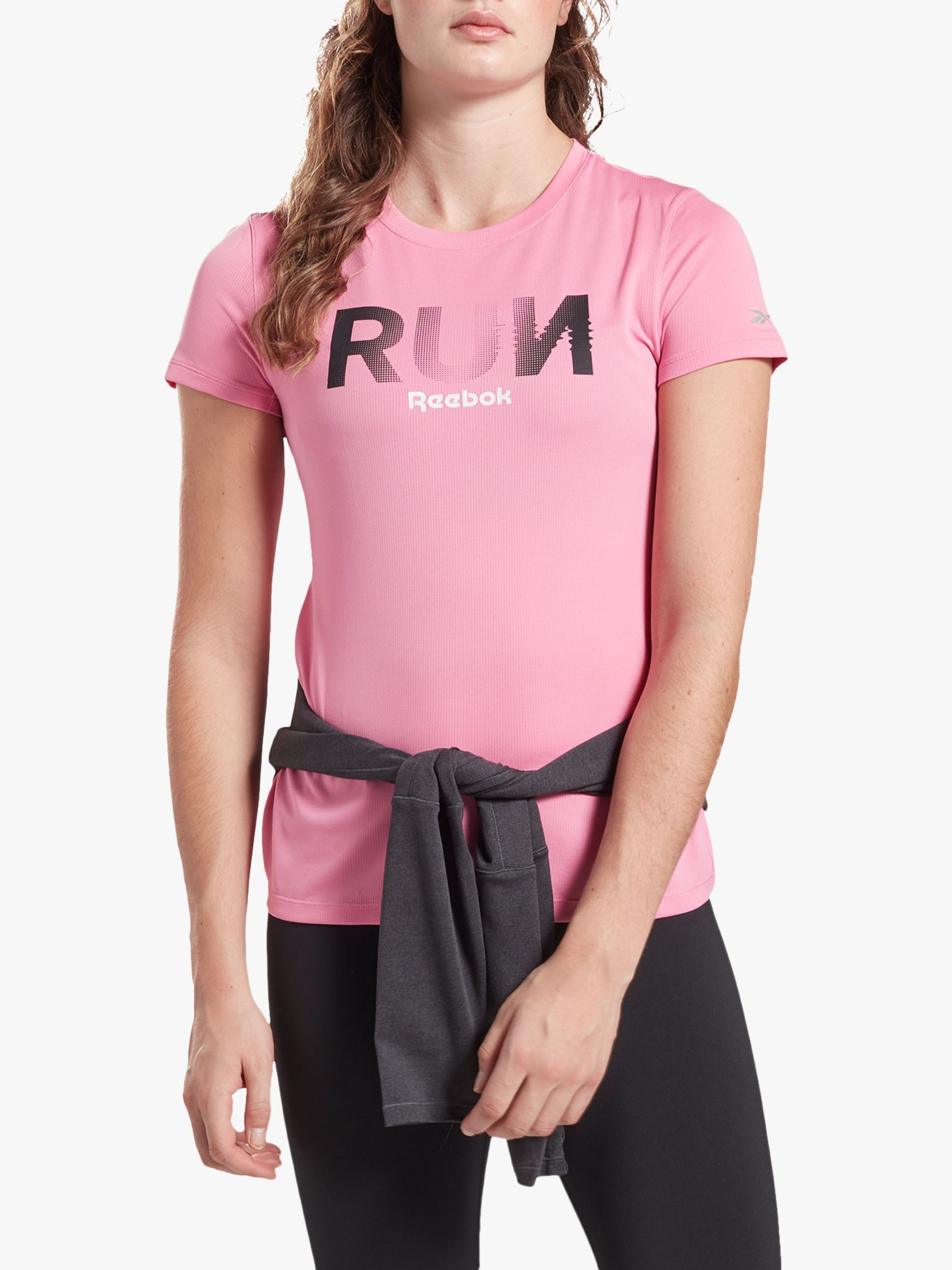 Reebok Reebok Running Essentials Short Sleeve Running Top, Posh Pink
