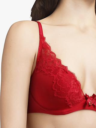 Chantelle Orangerie T-Shirt Bra, Red Apple