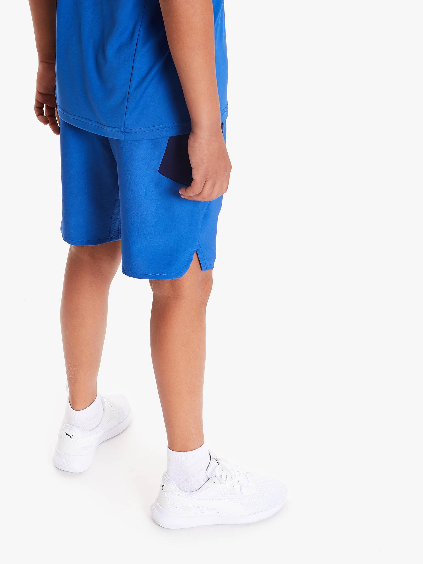 PUMA Boys' Active Sports Shorts, Galaxy Blue at John Lewis & Partners