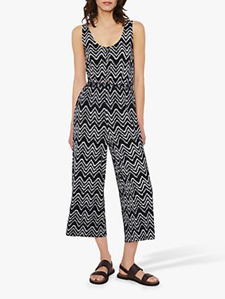 Warehouse Shibori Print Jumpsuit, Blue