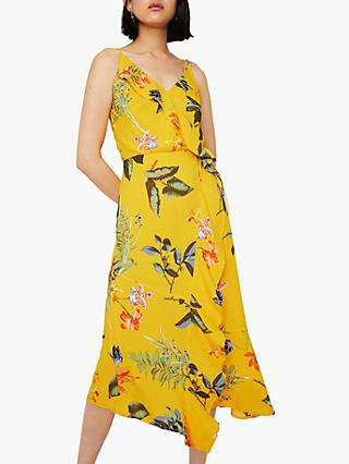 f3a116e6580 Warehouse Hibiscus Floral Midi Dress