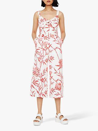 92ec76a1342 Warehouse Cotton Floral Print Jumpsuit