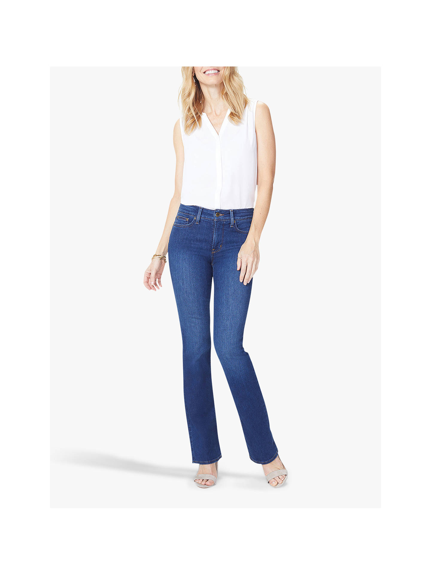 Buy NYDJ Barbara Bootcut Jeans, Cooper, 10R Online at johnlewis.com