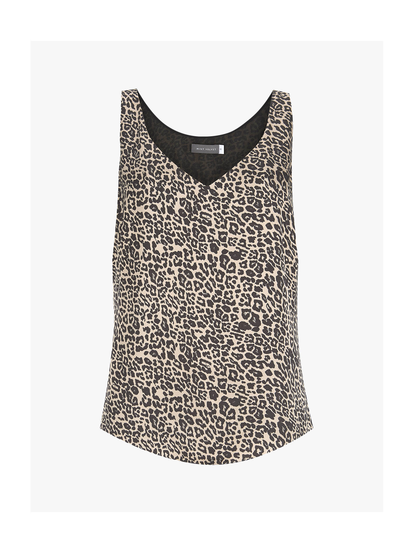 Buy Mint Velvet Philippa Leopard Satin Cami Top, Multi, 14 Online at johnlewis.com