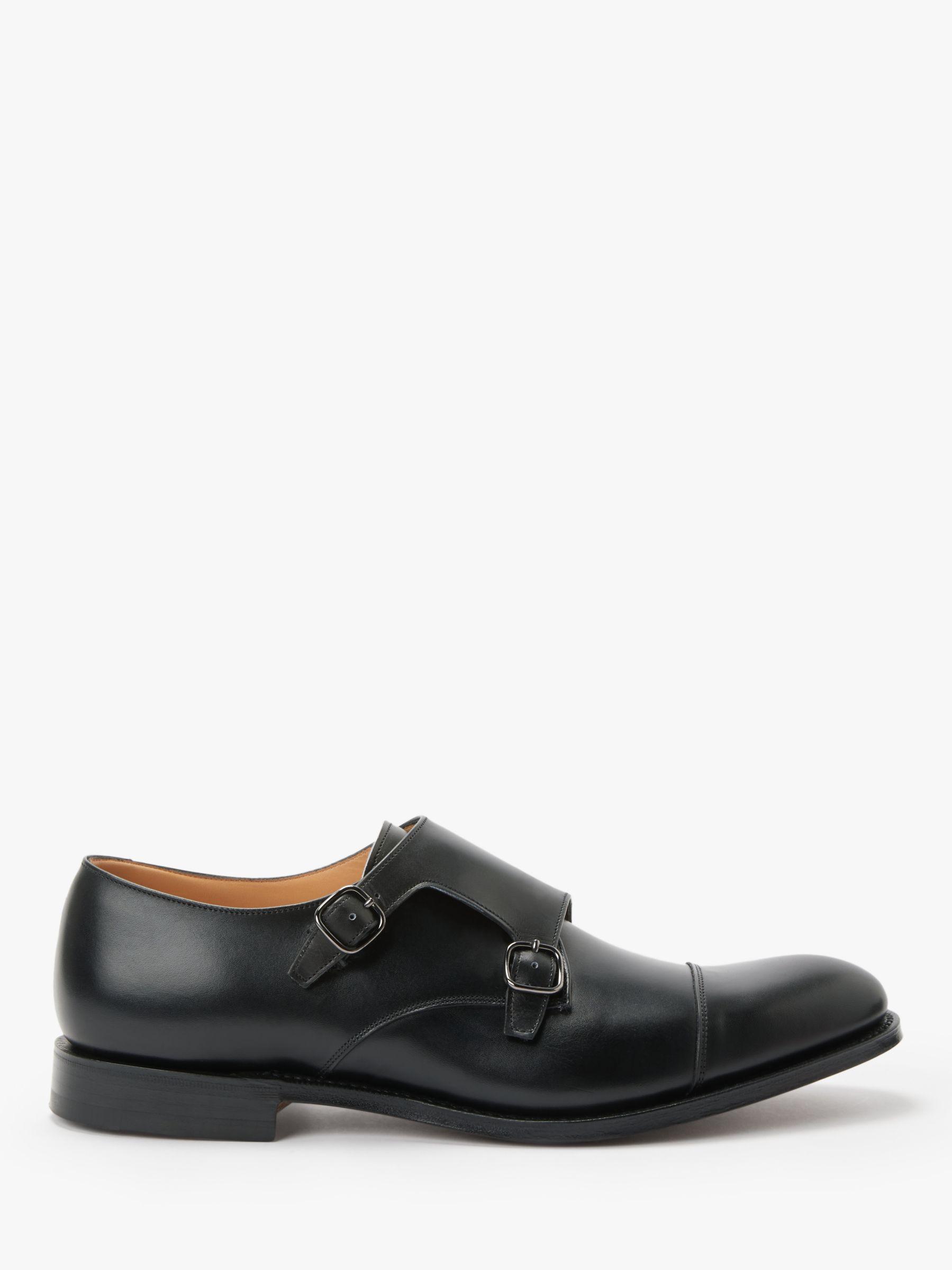 Church's Church's Detroit Leather Monk Shoes, Black