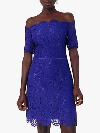 Oasis Lace Shift Dress, Rich Blue