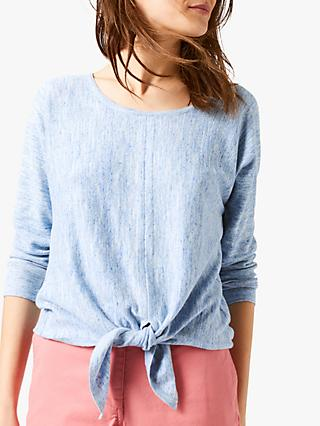 White Stuff Desert Tie Jumper, Daytime Blue