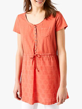 White Stuff Golden Gate Tunic, Dreamy Orange Print