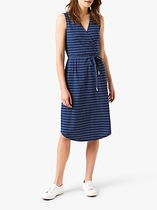White Stuff Avery Stripe Dress, Indigo