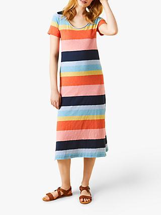 83a050c698e6a White Stuff Jennie Fair Trade Midi Dress, Multi Stripe