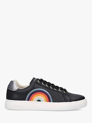 Paul Smith Leather Rainbow Lapin Trainers, Black/Multi