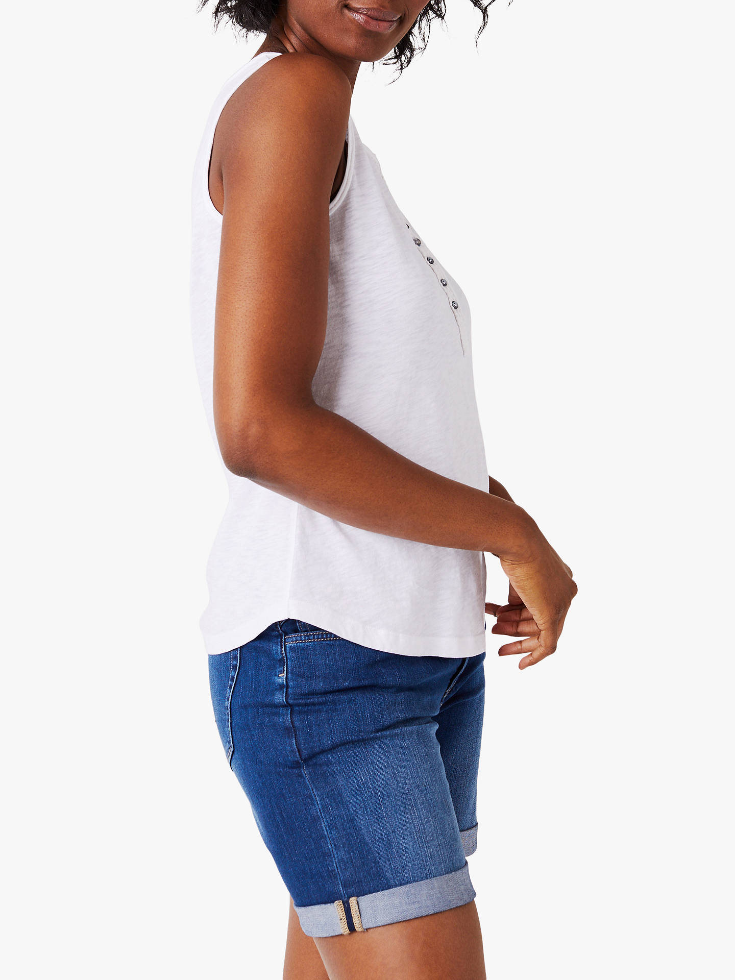 Buy White Stuff Dreamer Cotton Jersey Vest, White, 18 Online at johnlewis.com
