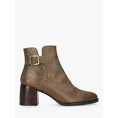 Image of Chie Mihara Or-Omayo Block Heel Ankle Boots, Gold