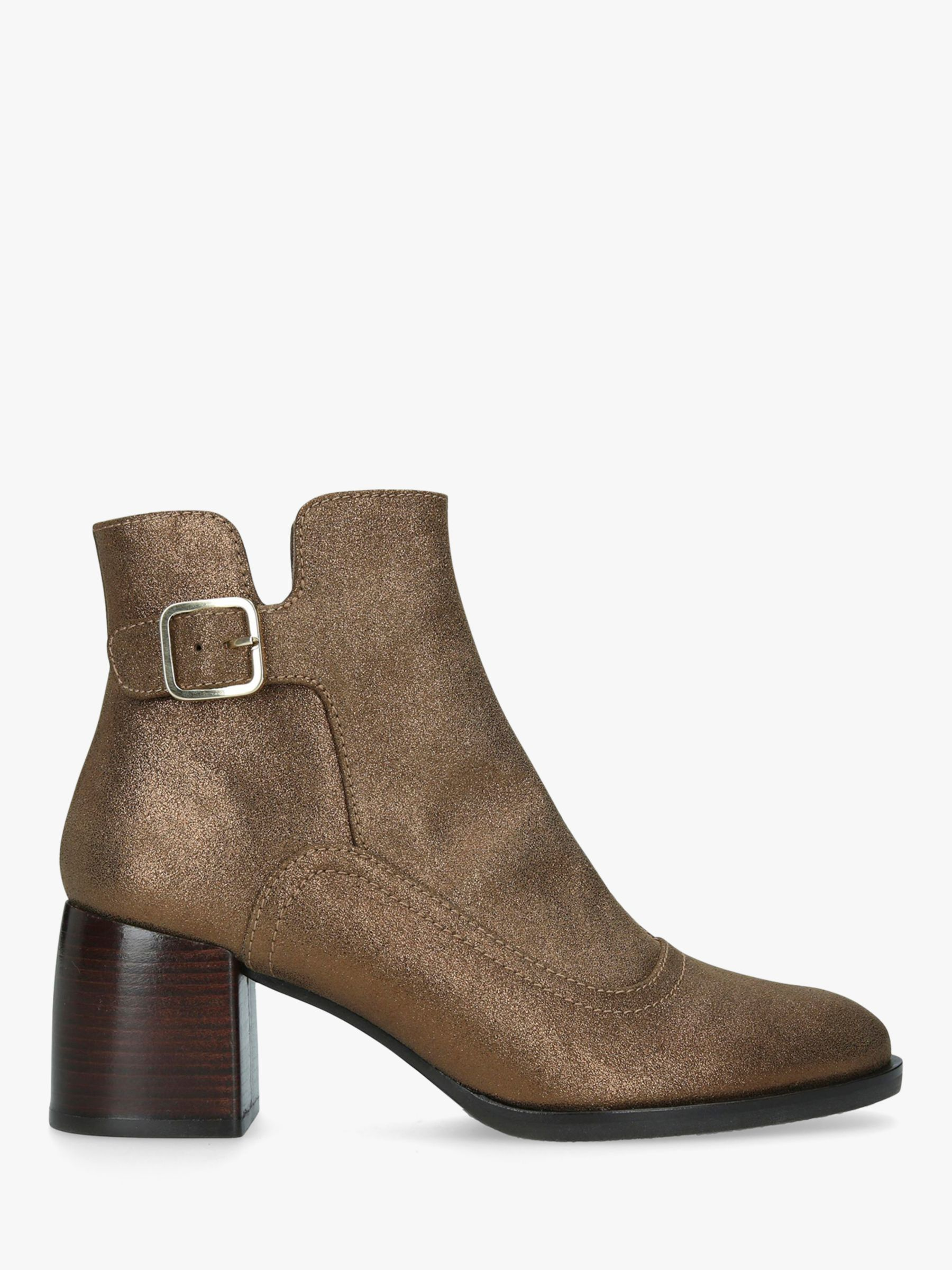 Chie Mihara Chie Mihara Or-Omayo Block Heel Ankle Boots, Gold