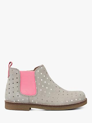 Little Joule Children's Kelsey Star Print Boots, Silver