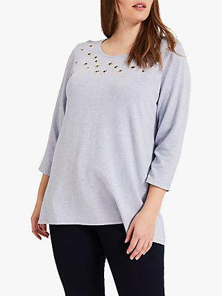Studio 8 Jodie Eyelet Top, Pale Blue