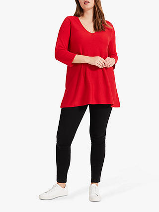 Buy Studio 8 Lizzy V-Neck Jumper, Red, 16 Online at johnlewis.com