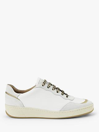 AND/OR Eero Leather Trainers, White/Neutral